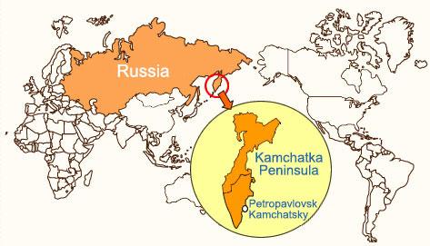 Kamchatka Peninsula On World Map.About Kamchatka Hunting Experience